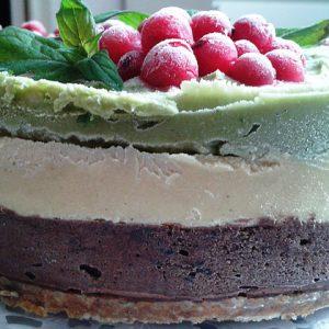 tort ciocolata-mango-menta